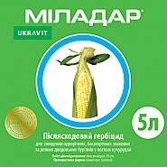 МІЛАДАР, КС® Післясходовий гербіцид системної дії для знищення однорічних, багаторічних злакових та деяких дводольних бур'янів у посівах кукурудзи.